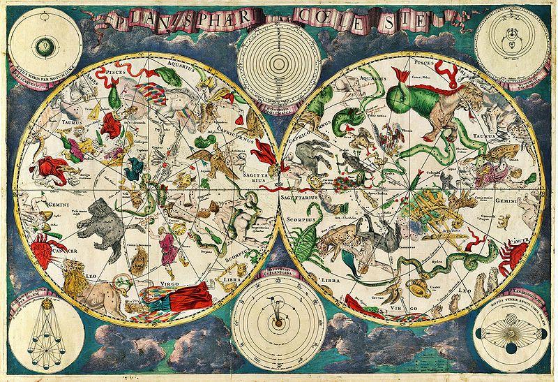 Celestial map Frederik de Wit