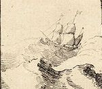 Ship in a rough sea