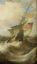 Ship in a rough sea