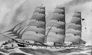 'Hesperides' sailing clipper
