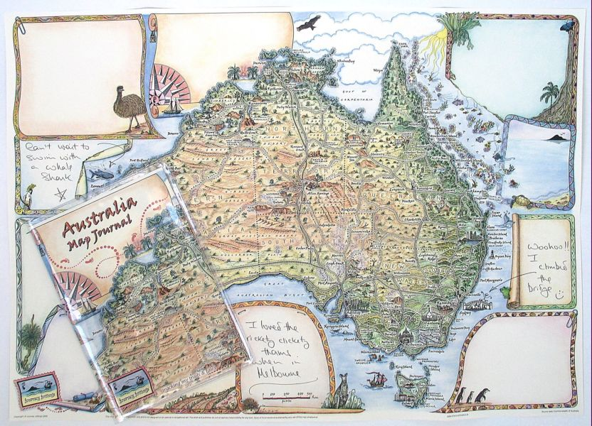 Australia Map Journal