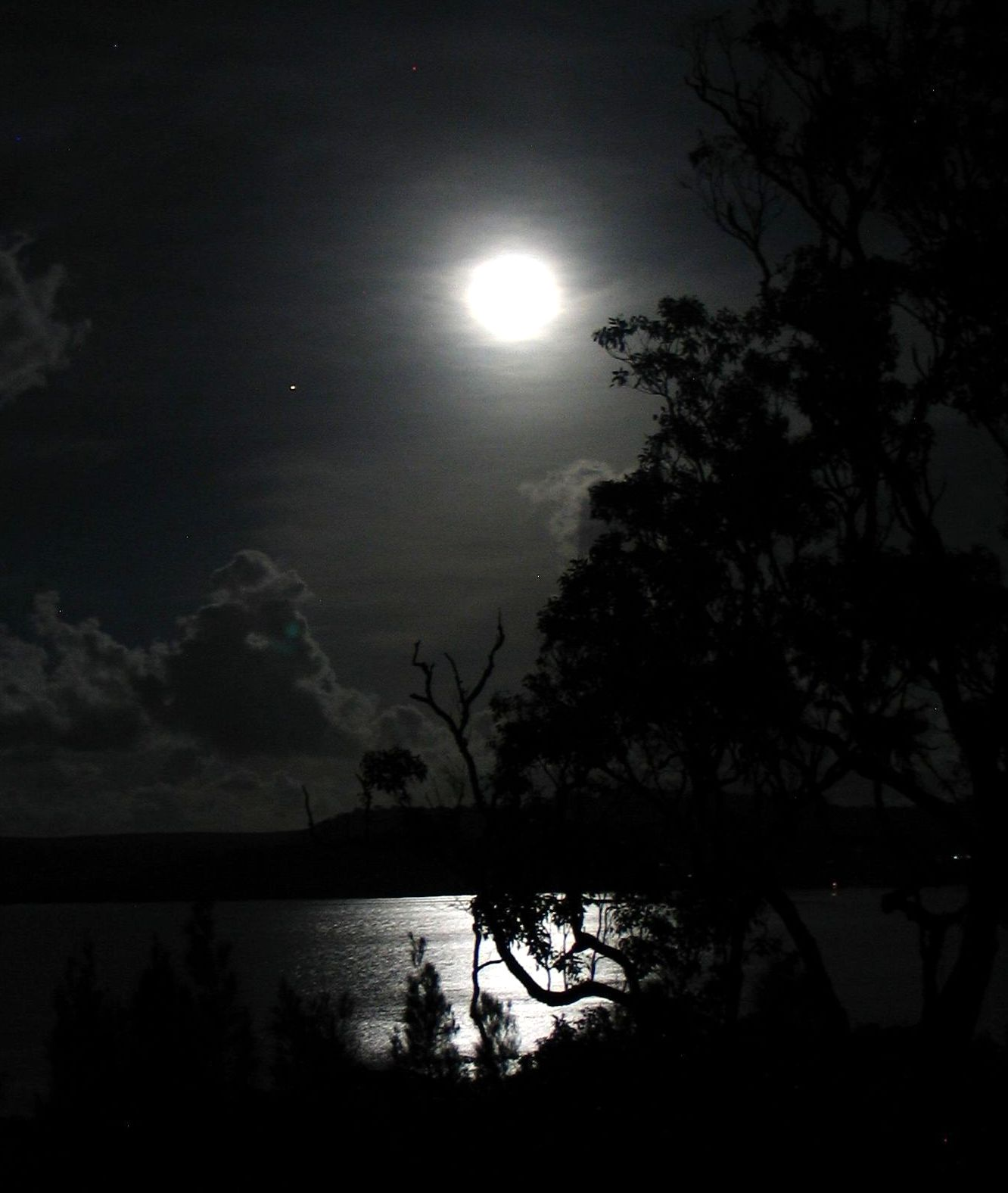 Moon over Moreton Bay