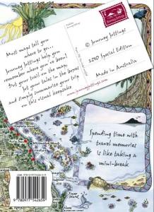 Australia Map Journal Travel Wallet Back Cover