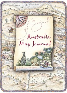 Australia Map Journal Travel Wallet