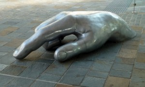 Hand sculpture, Brisbane, Queensland Australia