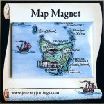 Australia Map Magnets - Tasmania