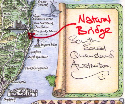 Natural Arch Queensland pictorial map