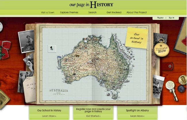 Our Page in History Australia Map