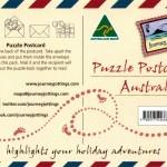 Australia map postcard