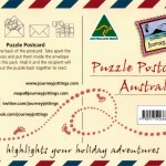 Image: Postcard map of Australia backing card