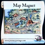 The Kimberleys Australia Map Magnet