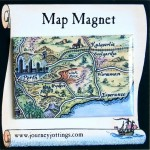 Kalgoorlie Goldfields Australia Map Magnet