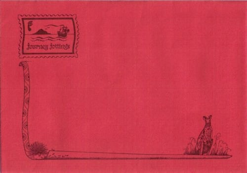 Red Journey Jottings envelope