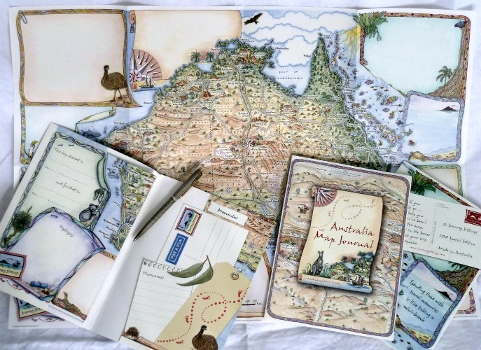 Australia Travel Journal Range Journey Jottings – Travel Maps Australia