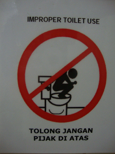 How not to use a toilet - Toilet Use Malaysia