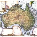 Waltzing Matilda Australia Jigsaw Puzzle Postcard