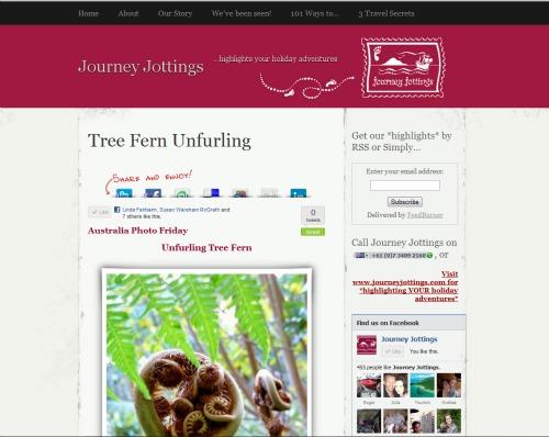 Old blog post on Journey Jottings