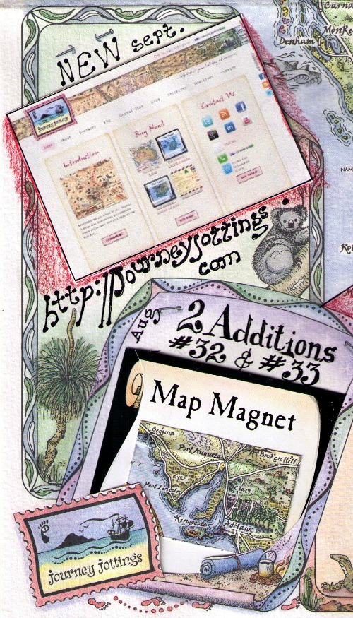 Two new Map Magnets and New website