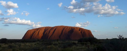 Uluru sunset Ayers Rock Australia
