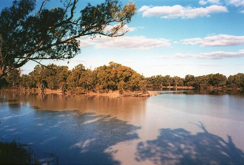 Image of the Murray Darling Rivers Junction at Wentworth