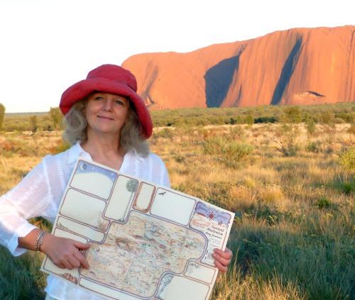 Journey Jottings Australia map Uluru sunrise