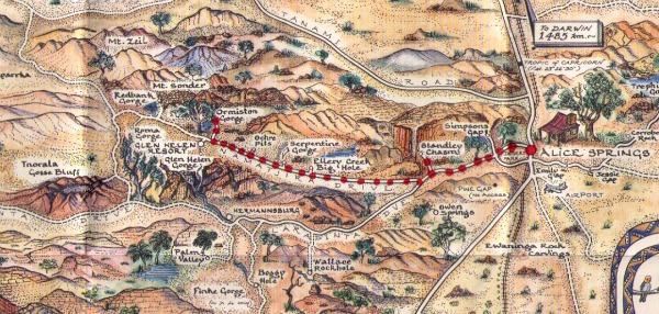 Central Australia Map Journal