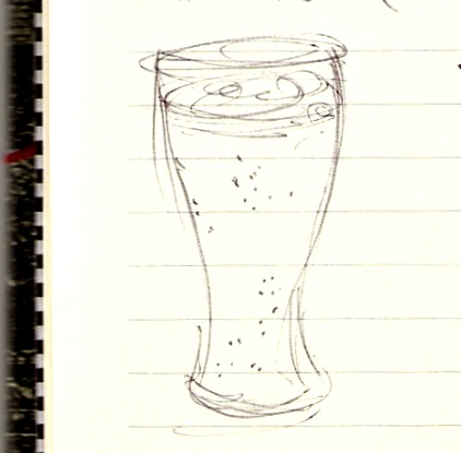 Drawing of a glass of beer
