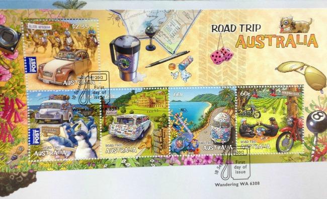 Australia Post Road Trip Stamps