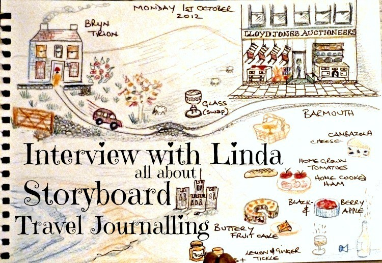 Interview with Linda all about make a Storyboard Journal when travelling