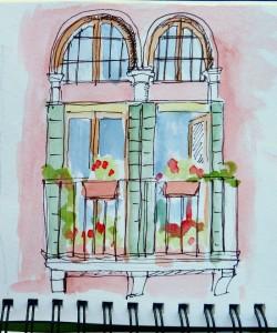 Image: sketchbook travel journal