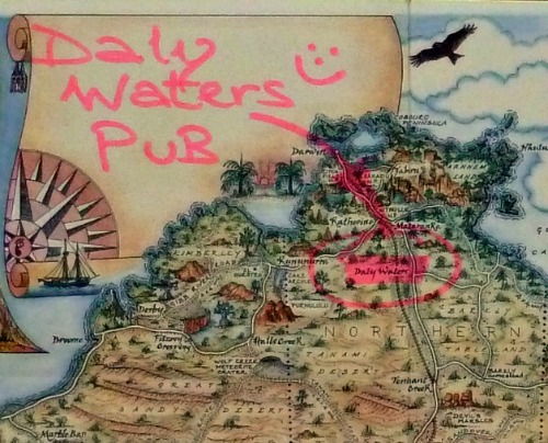 Daly Waters Pub Location Map