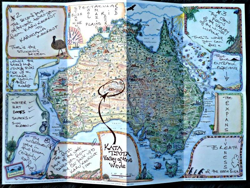 Map Kata Tjuta