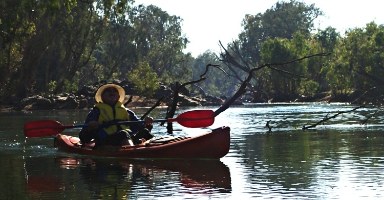 Paddling down the Katherine River