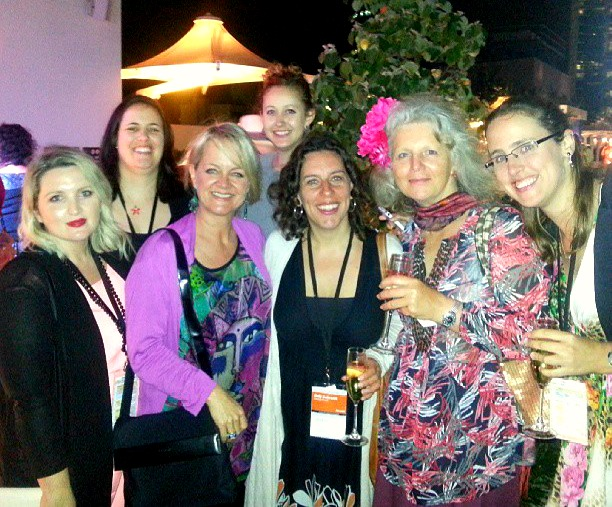 Fellow travel bloggers at the ProBlogger conference on the Gold Coast 2013