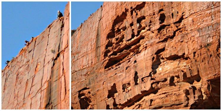 Kings Canyon Walls looking up at people along the top
