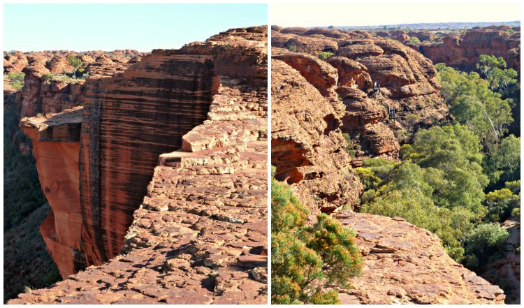 Looking both ways on the Rim Walk at Kings Canyon