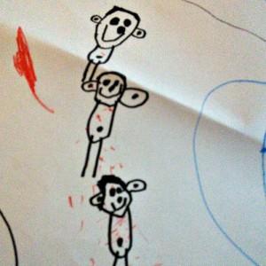 kindergarten drawing of family