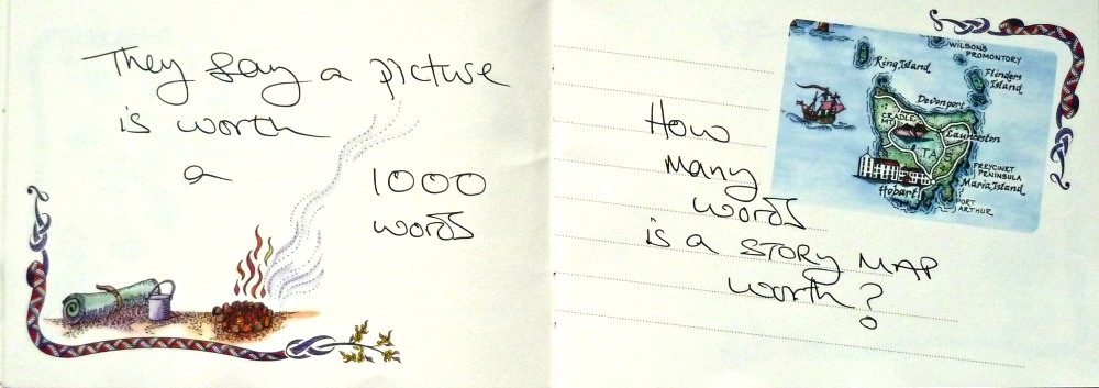They say a picture is worth a 1000 words, How many words is a story map worth