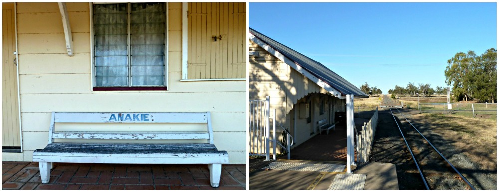Anakie Railway Station in the Gemfields, outback Queensland
