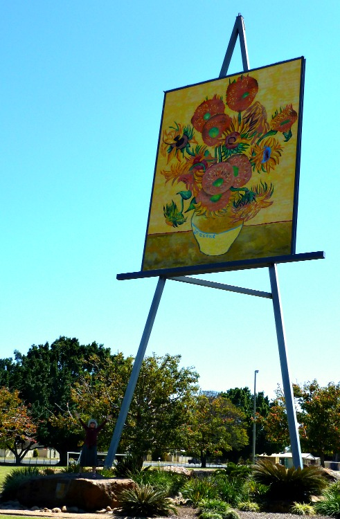 Big Easel Project Emerald Van Gough Sunflowers