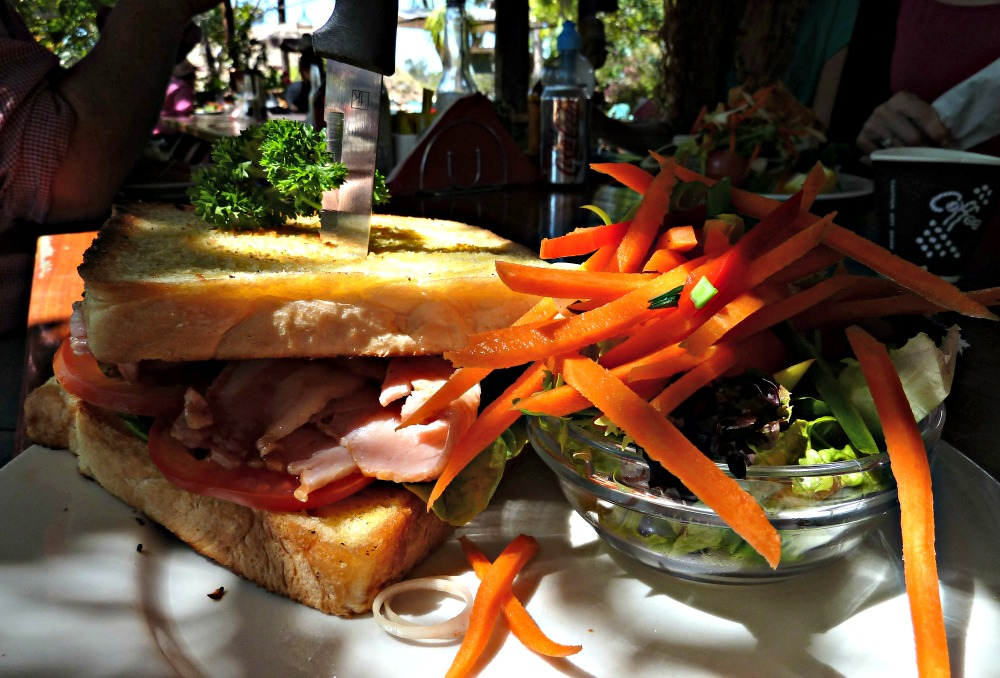 A BLT for lunch at Pats Gems Queensland
