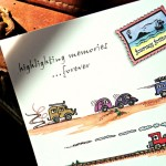 Back cover of A6 Notebook showing vehicles travelling