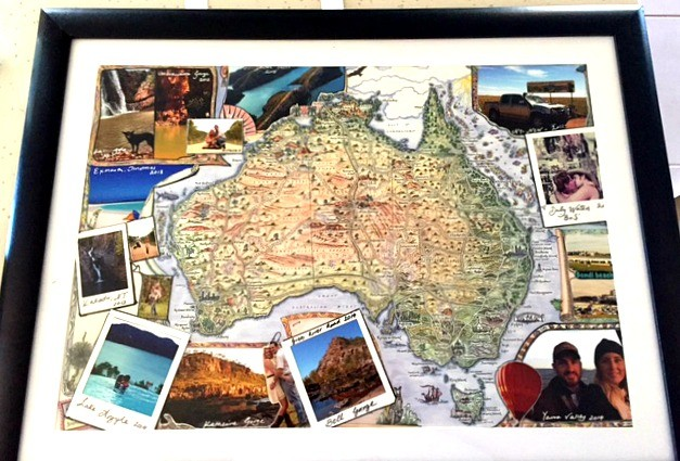 Record travel memory with photos and a map