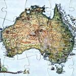 Australia Puzzle Postcard