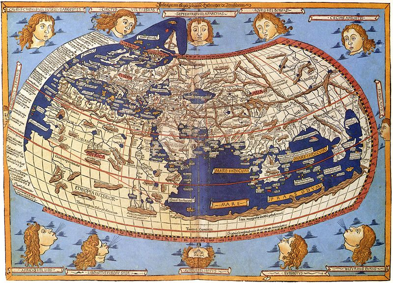 Woodcut of Ptolemy map by Johane Schnitze 1482