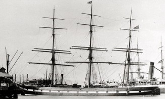 The iron sailing clipper called Hesperides