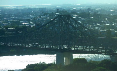 The Story Bridge seen from a neighbouring skyscraper