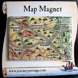 Waltzing Matilda Australia Map Magnet