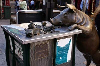 Pig in Rundle Mall, Adelaide
