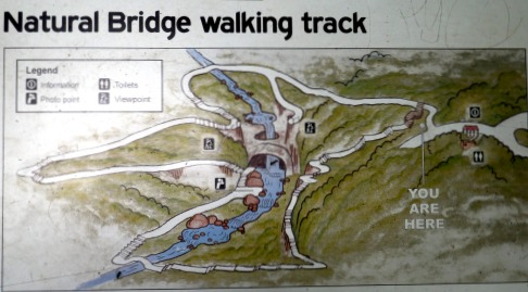 Natural Bridge Walking Track Map